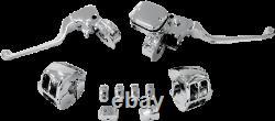 Drag Specialties Chrome Handlebar Control Kit with Mechanical Clutch #0610-0533