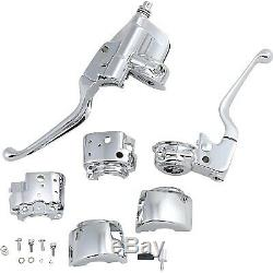 Drag Specialties H07-0748A Chrome Handlebar Control Kit with Mechanical Clut