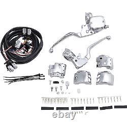Drag Specialties H07-0748AK Chrome Handlebar Control Kit with Mechanical Clu