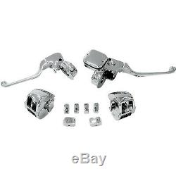Drag Specialties H07-0755KDS Chrome Handlebar Control Kit with Mechanical Cl