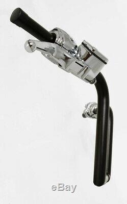 Fat 10 Black Ape Hangers Handlebars Hand Controls Switches 1-1/4 Bar Harley