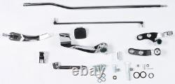 HARDDRIVE FORWARD CONTROL KIT WithCHROME MOUNTING PLATES AND NO PEGS 121022 MC