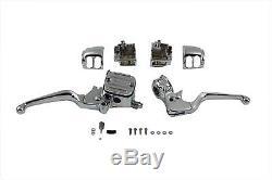 Handlebar Control Kit Chrome 11/16 bore master cylinder fits Harley Davidson