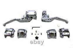 Handlebar Control Kit Chrome fits Harley-Davidson