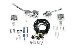 Handlebar Control Kit Chrome for FL 1972-1981 & XL 1973-1981 w wires & switches