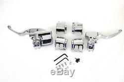 Handlebar Control Kit Chrome, for Harley Davidson, by V-Twin