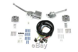 Handlebar Control Kit Chrome, for Harley Davidson motorcycles, by V-Twin