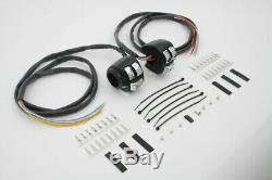 Handlebar Control Switch Housing Kit Black, for Harley Davidson, by V-Twin