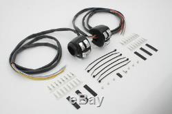 Handlebar Control Switch Housing Kit Black, for Harley Davidson, by V-Twin