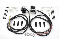 Handlebar Control Switch Housing Kit Chrome XL 1996/2003 Fxd 2006/2011 Fxst 2006