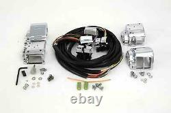 Handlebar Control Switch Housing Kit with Chrome Switches for Harley Big Twin