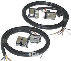Handlebar Dual Hand Control Kit Chrome Switches Harley Sportster XL 883 Hugger