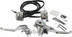 HardDrive 26-128 Handlebar Controls with Switches, 11/16in. Chrome