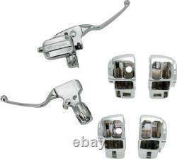 Harddrive Handlebar Control Kit Chrome Cable Clutch `08-16 Flh 53600