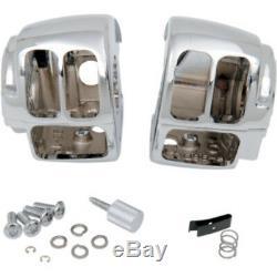 Harley-Davidson 96-13 FL FX XL Chrome Handlebar Control Kit 9/16 Bore