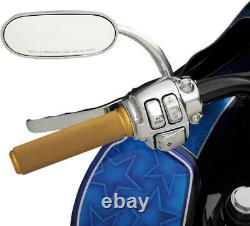 Harley-Davidson 96-13 FL FX XL Chrome Handlebar Control Kit with Mechanical Clutch