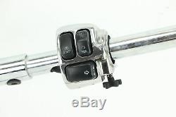 Harley Softail Dyna King Glide CHROME 1.25 T BAR Handlebar Control Kit