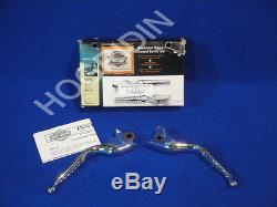 Harley buckshot v rod vrsc handlebars chrome hand controls levers kit 46161-04