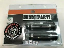 Harley new 56196-08a chrome and rubber heated handlebar hand control grips