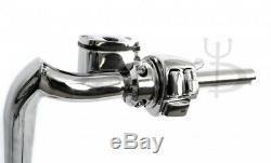 Mayhem 14 Chrome Meathooks Ape Hangers 1-1/4 with Chrome Hand Controls and Swi