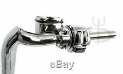 Mayhem 16 Chrome Meat hooks Ape Hangers 1-1/4 with Chrome Hand Controls