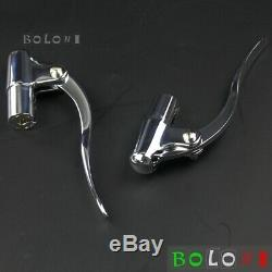 Motorcycle Chrome Clutch Brake Lever Hand Control Lever For 1 Handlebar Harley