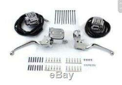 NEW Harley Davidson Chrome Handlebar Control Kit 11/16 Bore #22-0824 V-Twin