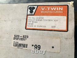 NICE! New V-Twin Manufacturing Billet Handlebar Control Kit 1982-95 5/8