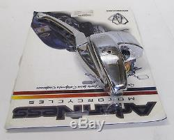 Omp 3-d Chrome Handlebar Hand Control Master Cylinder Harley 3/4 Bore 08-837
