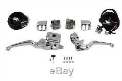 Smooth Contour Handlebar Control Kit Chrome, for Harley Davidson, by V-Twin