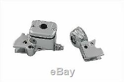 Smooth Style Handlebar Control Cover Kit Chrome for Harley Davidson by V-Twin