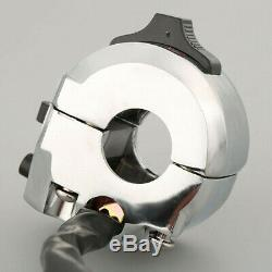 Universal Motorcycle Chrome Handle Bar Control Light Switch Indicator Cafe Racer