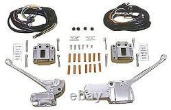 V-Factor Chrome OE Style Handlebar Control Kit 44705 Harley FL XL 71-81 & Custom