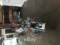 05 Harley Softail Chrome 10 Ape Suspente 1 Guidon Commutateur Set Câble De Commande