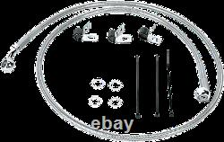 1 1/4 Ape Hanger 12 Chrome Handlebar Control Kit 05-06 Harley Deluxe Flstn