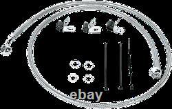 1 1/4 Ape Hanger 12 Chrome Handlebar Control Kit 07-10 Harley Deluxe Flstn