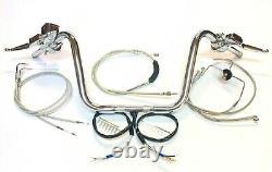 1 1/4 Ape Hanger 12 Kit De Contrôle De Barre De Poignée Chrome 04 10 Harley Sportster