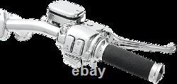 1 1/4 Ape Hanger 16 Kit De Contrôle De Poignée Chrome 00 06 Harley Fxst Softail