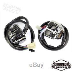 1 '' Interrupteurs De Commande De Guidon De Câblage Pour Harley Sportster 96-12 Chrome