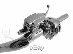 12 Cintres Chromés Ape Guidons 1.25 Régulateur De Vitesse Harley Glide Bagger 96-12