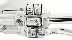 14 Cintres Chromés Ape Guidons 1-1 / 4 Régulateur De Vitesse Harley Glide Bagger 96-12
