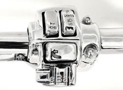 16 Cintres Chromés Ape Guidons 1-1 / 4 Régulateur De Vitesse Harley Glide Bagger 96-12