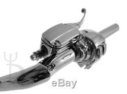 16 Cintres Chromés Ape Guidons 1.25 Régulateur De Vitesse Harley Glide Bagger 96-12