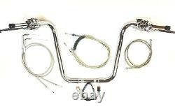 16 X 1.25 Ape Plug N P Chrome Handlebar Control Kit 07 10 Harley Heritage St