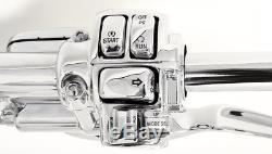 18 Suspensions Chromées En Ape Guidon 1-14 Régulateur De Vitesse Harley Glide Bagger 96-12