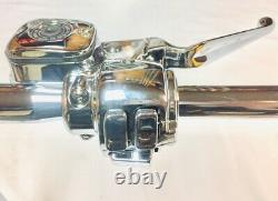 18 X 1 1/4 Ape Hanger Chrome Kit Poignée W Commandes 96 99 Harley Heritage