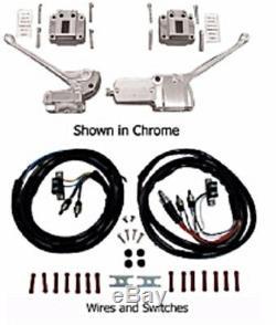 1972-1981 Kit De Contrôle Complet Pour Guidon Shovelhead, Chrome