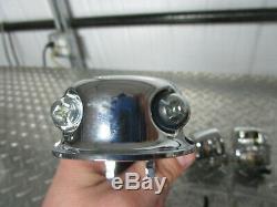 96-05 Harley Davidson Dyna Softail Sportster Chrome Commandes Guidon