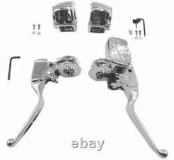 Biker's Choice Handlebar Control Kits Chrome Without Switches #53454