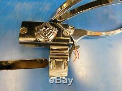 Bourget Bbw Chrome Commandes Sur Le Guidon Leviers Miroir Maître Cylindre Harley Chop